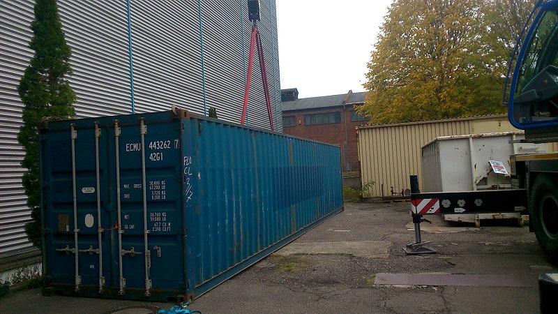 40ft Container für Hilfsgüter nach Dominca 10.11.2017