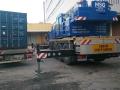 Container wird von MSG Krandienst abgesetzt 10.11.2017