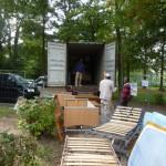 Afrikawerk lädt Container