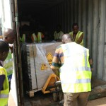 Containerankunft in Burkina Faso